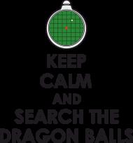 Dragon Ball KEEP CALM AND SEARCH THE DRAGON BALLS - T-shirt damski biały