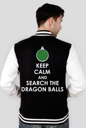 Dragon Ball KEEP CALM AND SEARCH THE DRAGON BALLS - Bluza męska college baseball