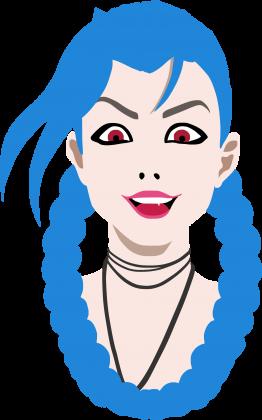 LoL Jinx Classic - Bluza damska bez kaptura