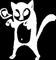 Koszulka z białym kotkiem