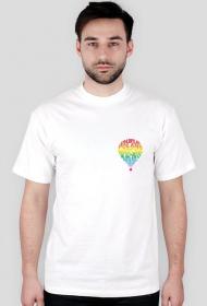 koszulka męska logo małe kolor