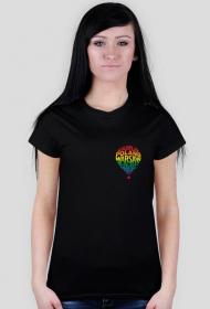 koszulka damska logo małe kolor czarna