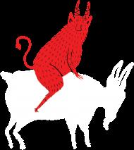 Diabeł i biała koza męska
