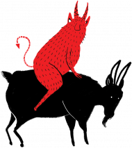 Diabeł i czarna koza damska