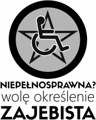 Koszulka damska - Niepełnosprawna?