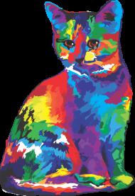 Koszulka damska - Psychodeliczny kot