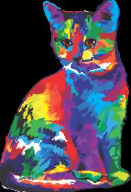 Koszulka męska - Psychodeliczny kot