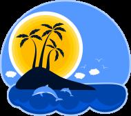 Koszulka damska - Wyspa o zachodzie słońca