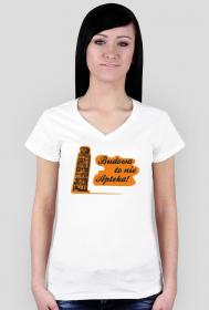 Budowa to nie apteka - koszulka damska V-neck