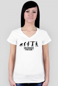 Homo engineerius - koszulka damska V-neck