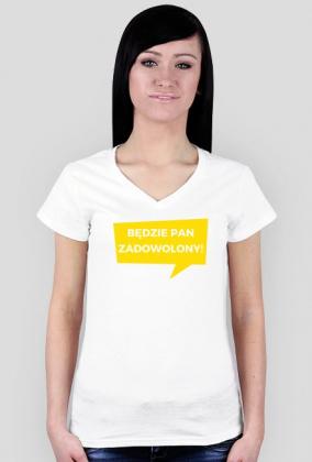 Będzie pan zadowolony! - koszulka damska V-neck