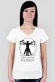 Vitruvian Engineer - koszulka damska V-neck