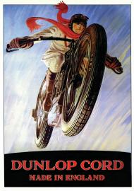 Plakat A1 59x84cm Dunlop Racing vintage
