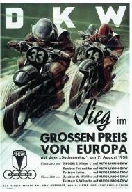 Plakat A2 42x59cm DKW vintage