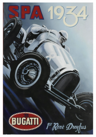 Plakat A1 59x84cm SPA 1934 vintage