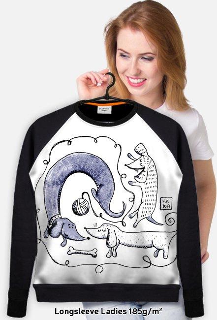 Jamnikowa DAMSKA bluza