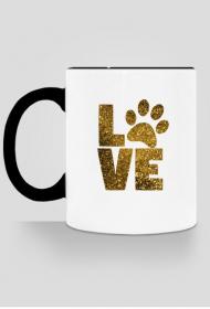 Kubek - Dog Love - czarny