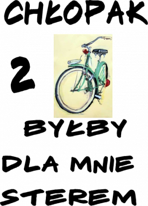 chłopak z rowerem