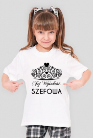 Dziecięca koszulka Jej Wysokość Szefowa