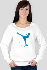 Bluza łyżwiarka niebieska