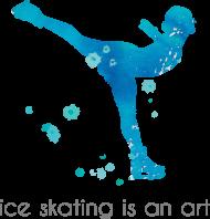 Koszulka Ice skating is an art