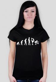 Koszulka skating Evolution z białym nadrukiem