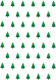 Small Pines T-shirt slim męski