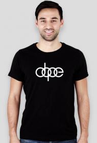 'dope' koszulka męska,slim,mniejszy nadruk