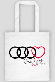 'One love Audi love' eko torba