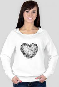 Damska bluza Made with love nadruk serce
