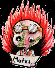 MatesArt koszulka damska z owalnym dekoltem