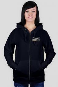 Bluza czarna damska - z logiem Zajawkarz Home Site