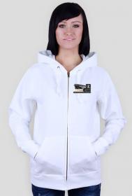 Bluza biała damska - z logiem Zajawkarz Home Site