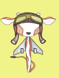 Latająca krowa - podkładka pod mysz