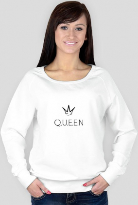queen white sweatshirt