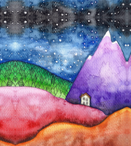 Bluza damska Domek w górach