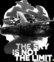 AeroStyle - męska szara koszulka z samolotem 3d