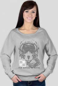 AeroStyle - bluza damska hełm pilota, per aspera ad astra