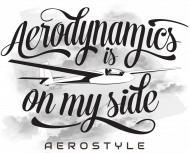 AeroStyle - polo z szybowcem z tyłu