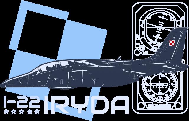 AeroStyle - męska niebieska koszulka Iryda