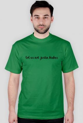 Koszulka męska - lol ur not justin bieber (2)