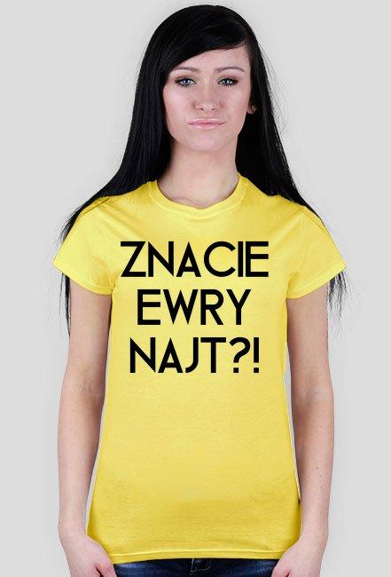Znacie Ewry Najt?! / Mandaryna / t-shirt slim