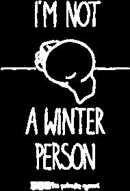 Winter person - koszulka damska czarna