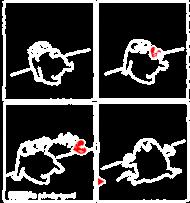 Serce - koszulka damska czarna