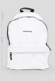 "Duży Biały Plecak ""ɹǝuǝʇǝǝʍs"""