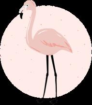 Kubek z flamingiem różowy