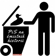 PiS na śmietnik historii - Koszulka Męska