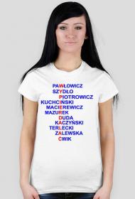 Koszulka z politykami PiS - damska