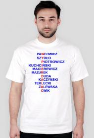 Koszulka z politykami PiS - męska