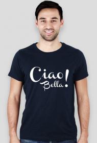 Ciao bella! czarna koszulka męska